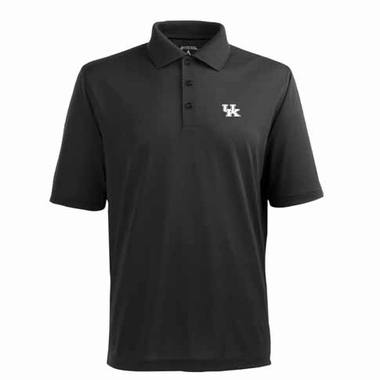 Kentucky Mens Pique Xtra Lite Polo Shirt (Color: Black)