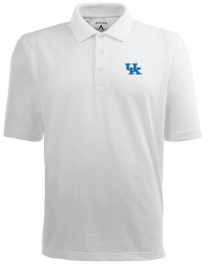 Kentucky Mens Pique Xtra Lite Polo Shirt (Color: White)