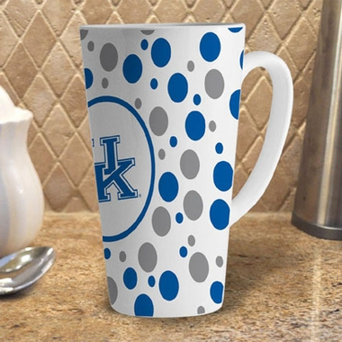Kentucky Polkadot 16 oz. Ceramic Latte Mug