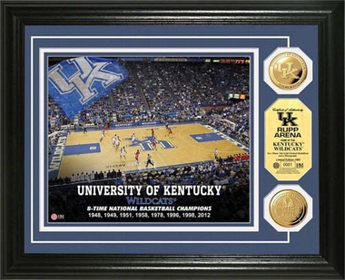 Kentucky Wildcats University of Kentucky Court Gold Coin Photo Mint