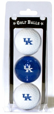 Kentucky Set of 3 Multicolor Golf Balls