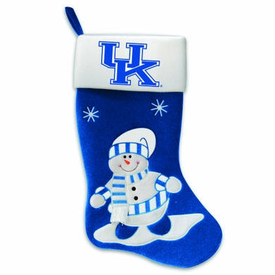 Kentucky Snowman Felt Stocking
