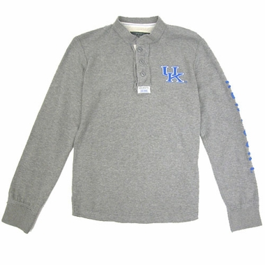 Kentucky Waffle Knit Henley Long Sleeve Shirt