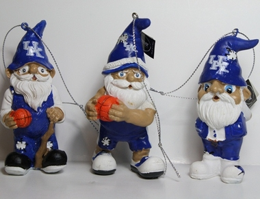 Kentucky Wildcats 2012 Gnome 3 Pack Ornament Set