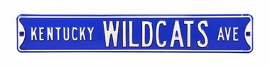 Kentucky Wildcats Ave Street Sign