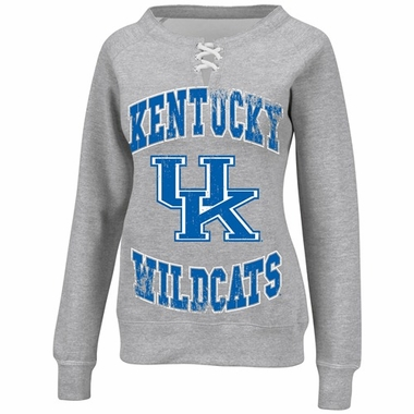 Kentucky Women's Lace Up Fan Sweatshirt