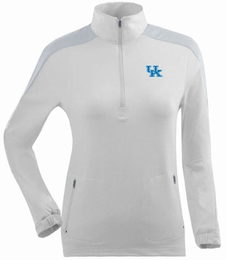 Kentucky Womens Succeed 1/4 Zip Performance Pullover (Color: White)