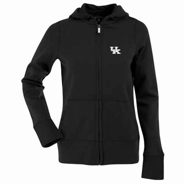 Kentucky Womens Zip Front Hoody Sweatshirt (Color: Black)
