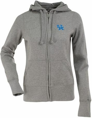 Kentucky Womens Zip Front Hoody Sweatshirt (Color: Gray)