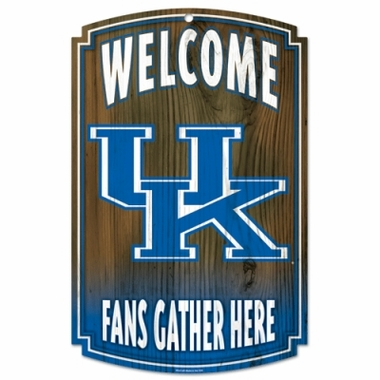 "Kentucky Wildcats Wood Sign - 11"" x 17"""