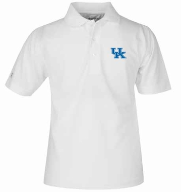 Kentucky YOUTH Unisex Pique Polo Shirt (Color: White)