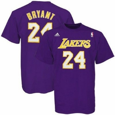 Kobe Bryant Los Angeles Lakers YOUTH Adidas NBA Purple Player T-Shirt
