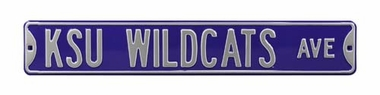 KSU Wildcats Ave Purple Street Sign
