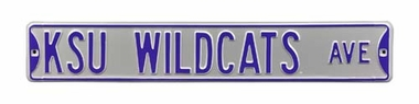 KSU Wildcats Ave Street Sign