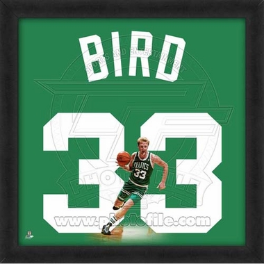 "Larry Bird, Celtics UNIFRAME 20"" x 20"""