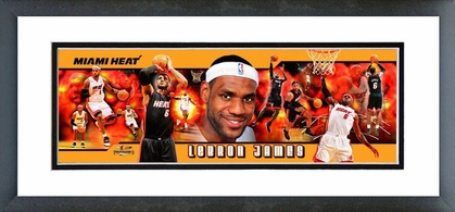 LeBron James 2010 Framed / Double Matted Photoramic