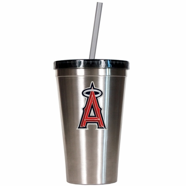 Los Angeles Angels 16oz Stainless Steel Insulated Tumbler with Straw