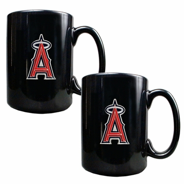 Los Angeles Angels 2 Piece Coffee Mug Set