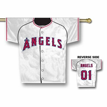 Los Angeles Angels 2 Sided Jersey Banner Flag (F)