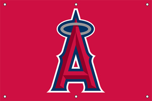 Los Angeles Angels 2 x 3 Horizontal Applique Fan Banner