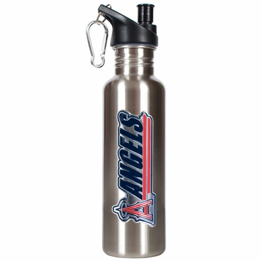 Los Angeles Angels 26oz Stainless Steel Water Bottle (Silver)