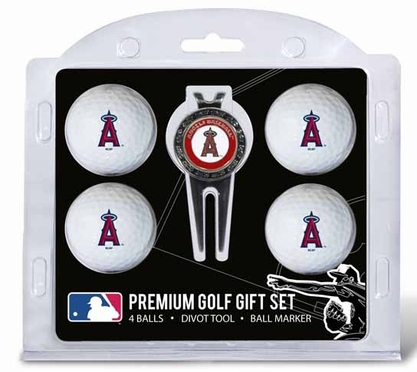 Los Angeles Angels 4 Ball and Tool Gift Set