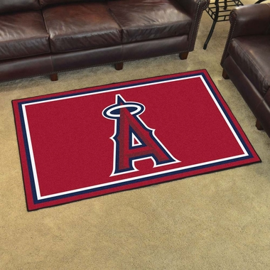 Los Angeles Angels 4 Foot x 6 Foot Rug