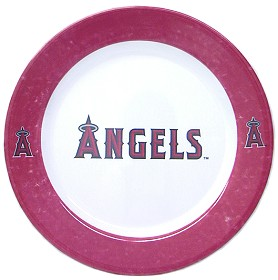 Los Angeles Angels 4 Piece Dinner Plate Set