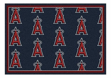 "Los Angeles Angels 5'4"" x 7'8"" Premium Pattern Rug"