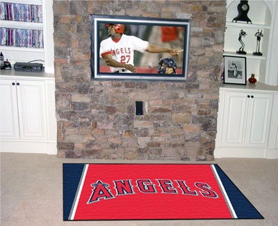Los Angeles Angels 5 Foot x 8 Foot Rug