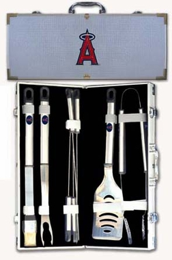 Los Angeles Angels 8pc. BBQ Set w/Case