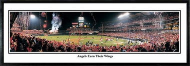 Los Angeles Angels Angels Earn Their Wings Framed Panoramic Print