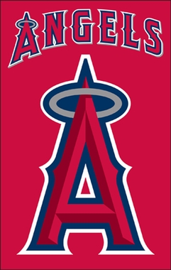 Los Angeles Angels Applique Banner Flag