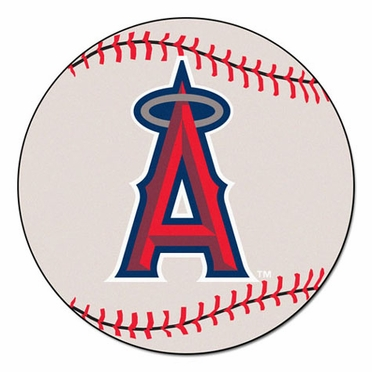 Los Angeles Angels Baseball Shaped Rug