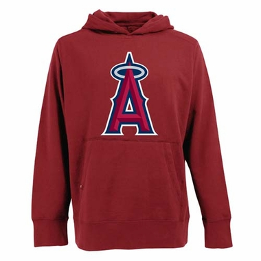 Los Angeles Angels Big Logo Mens Signature Hooded Sweatshirt (Color: Red)