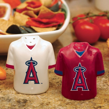 Los Angeles Angels Ceramic Jersey Salt and Pepper Shakers