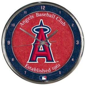 Los Angeles Angels of Anaheim Round Chrome Wall Clock