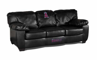 Los Angeles Angels Leather Classic Sofa