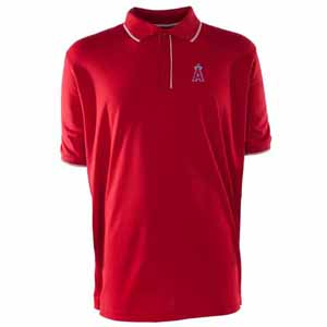 Los Angeles Angels Mens Elite Polo Shirt (Team Color: Red) - Large