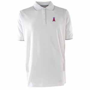 Los Angeles Angels Mens Elite Polo Shirt (Color: White) - Small