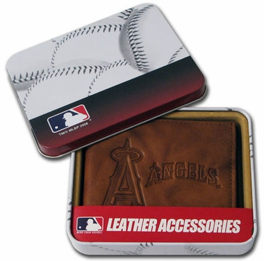 Los Angeles Angels Embossed Leather Bifold Wallet