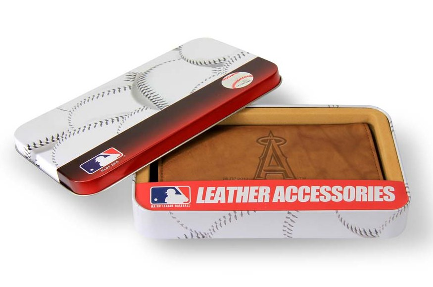 Rico Los Angeles Angels Embossed Leather Checkbook Cover