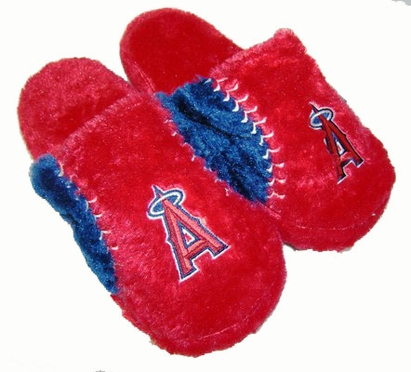 Los Angeles Angels Fuzzy Slippers
