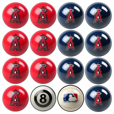 Los Angeles Angels Home and Away Complete Billiard Ball Set