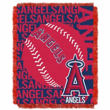 Los Angeles Angels Jacquard Woven Throw Blanket