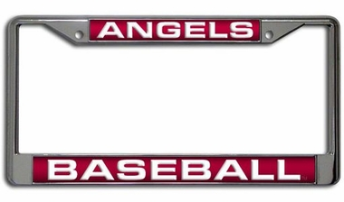 Los Angeles Angels Laser Etched Chrome License Plate Frame