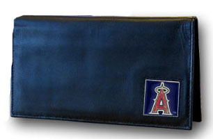Los Angeles Angels Leather Checkbook Cover (F)