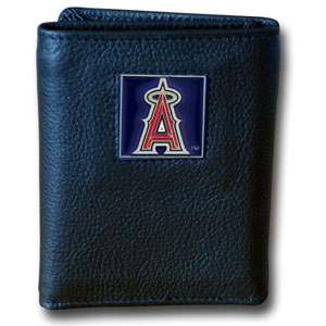 Los Angeles Angels Leather Trifold Wallet (F)