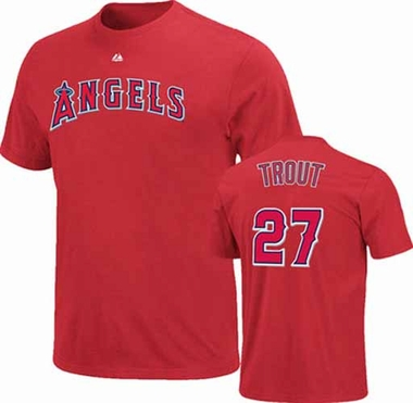 Los Angeles Angels Mike Trout Player T-Shirt - Red