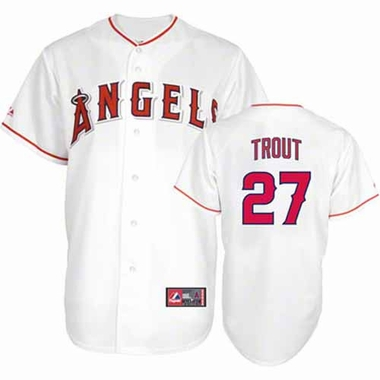 Los Angeles Angels Mike Trout YOUTH Replica Jersey - White